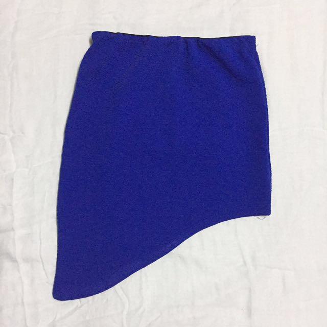 Royal Blue Asymmetrical skirt