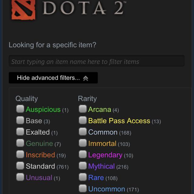 Selling Dota 2 Account