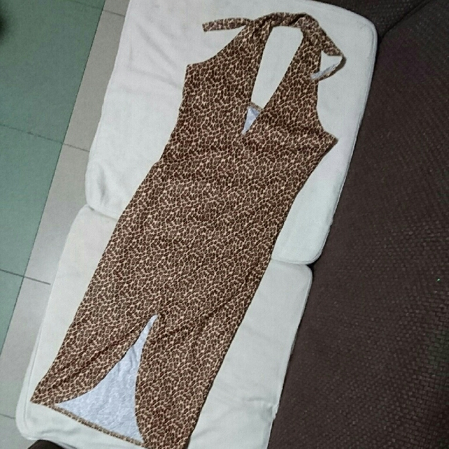 Sexy Leopard Backless Dress