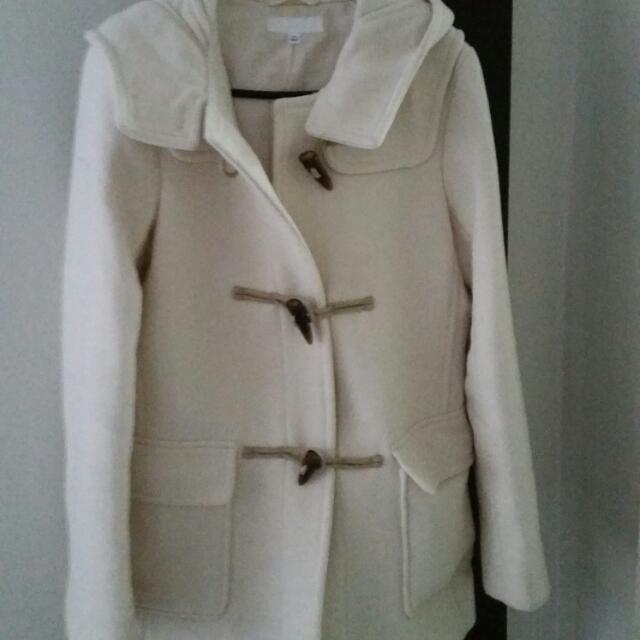 Size S Hooded Coat Worn Twice
