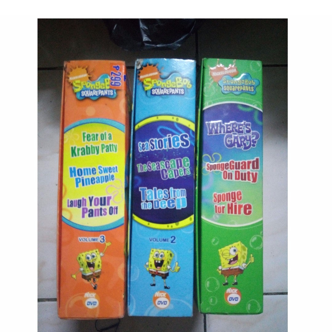 Spongebob DVDs 72 episodes