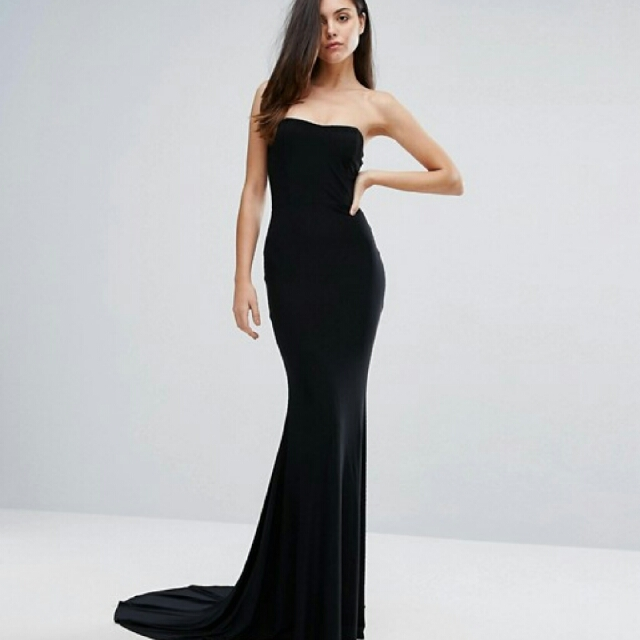 Strapless Black Formal Dress Womens Fashion Clothes On Carousell
