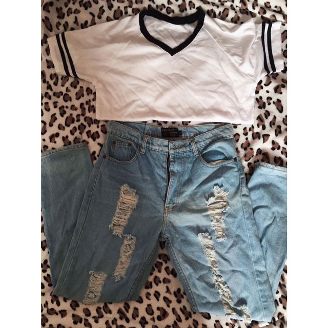T Shirt & Denim Pants