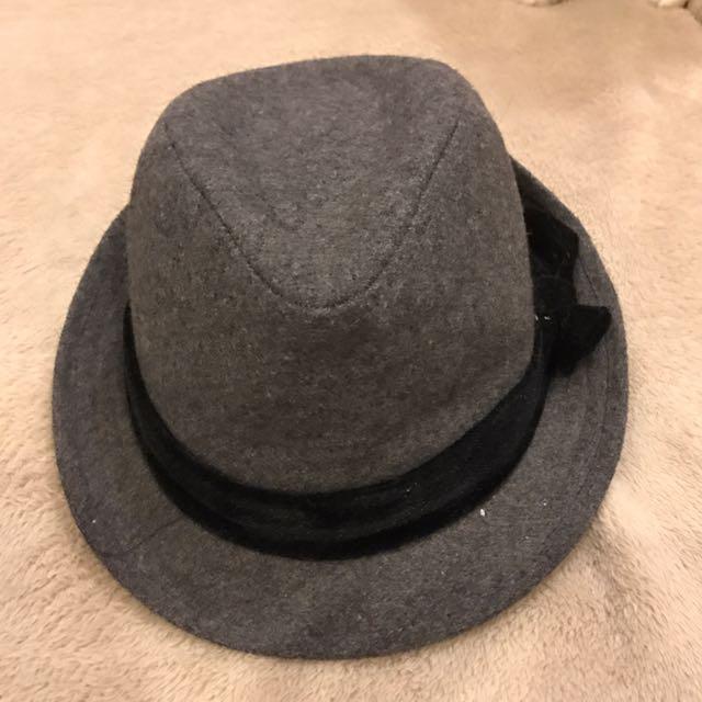 Terranova grey hat with ribbon detail