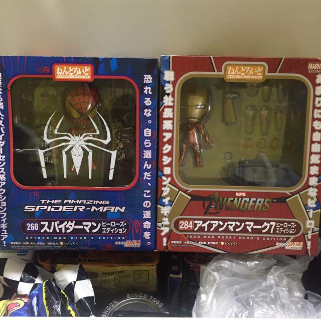 The Amazing Spider-Man & The Avenger Iron Man Nendoroid, Toys ...