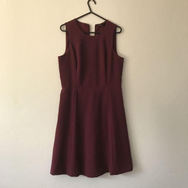 Tokito Maroon Dress Size 8