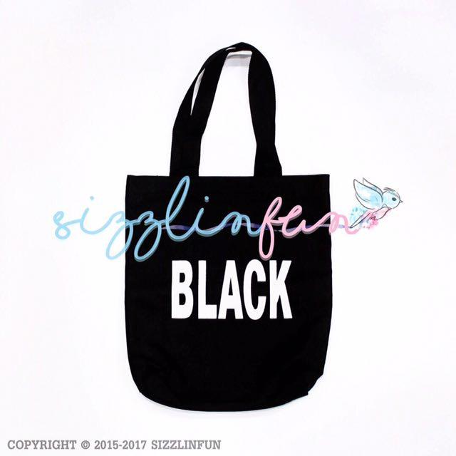 Tote Bag Black & Pink, 38x33cm.