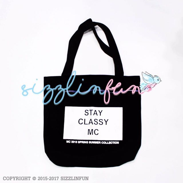 Tote Bag Stay Classy, 36x35cm.
