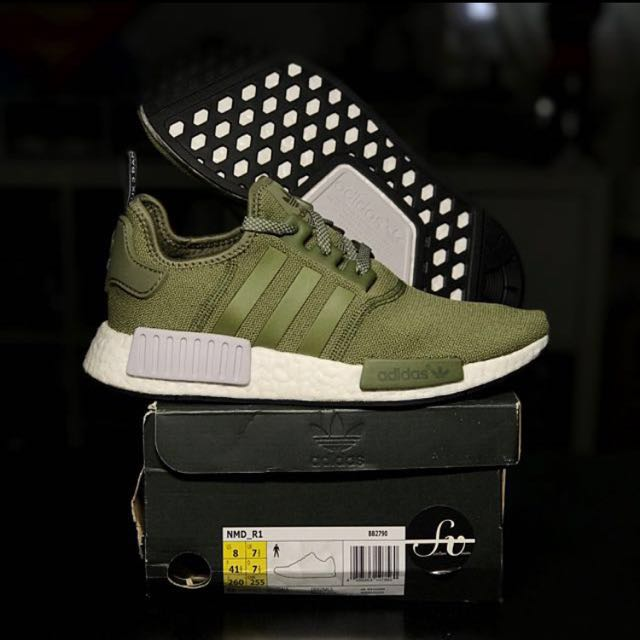 buy online 09a2f 93d3d UK 7.5 Adidas Originals Nmd Footlocker Europe Exclusive Olive Cargo Green  Limited Edition Release NMDR1 Runners sneaker, Mens Fashion, ...