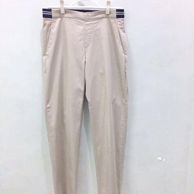 Uniqlo Khaki Smart Style Satin Ankle-length Pants