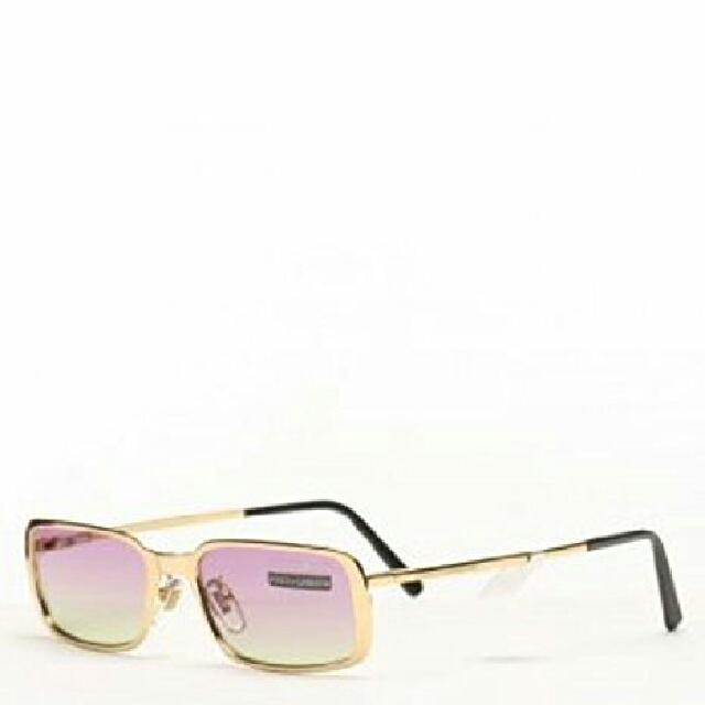 Vintage Dolce And Gabana Gold Rimmed Sunglasses