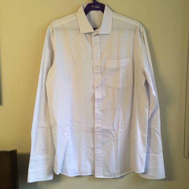 White Long Sleeved Polo