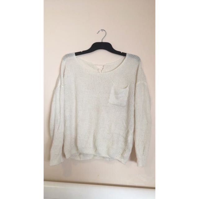 White Wool Sweater