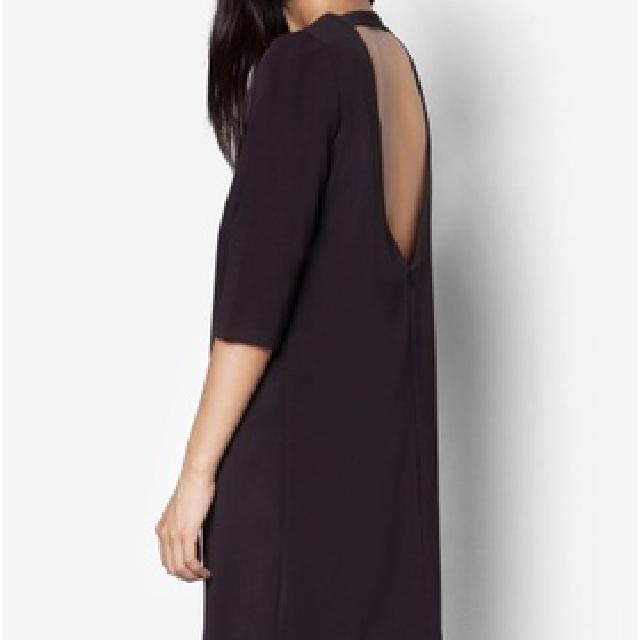 Zalora V Neck Black Backless Dress