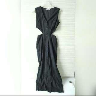 Stylenanda Waist Cut-Out Button Down Dress