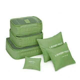 6 in 1 Travel Pouch Organizer Bags ( green )