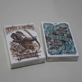 Heros of the Nations Playing Cards (Light)