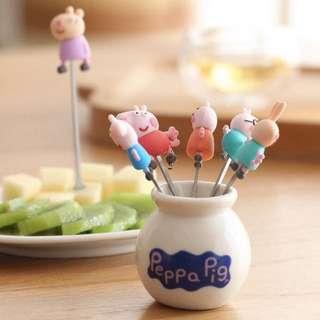 🚚 🐷佩佩豬水果叉套装🐷