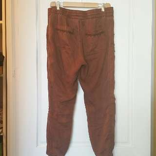 Hei Hei Brown Utility Drawstring Pants