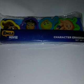 Emoji Movie Character Erasers (set of 4) 擦膠