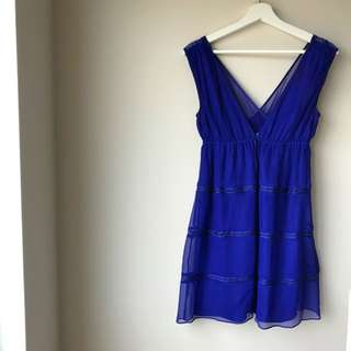 Marciano 100% silk dress - fits xs/small
