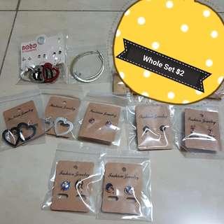 Set F (Set of 14 pairs Earrings)