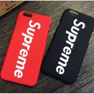 Black Supreme iPhone 7 plus case