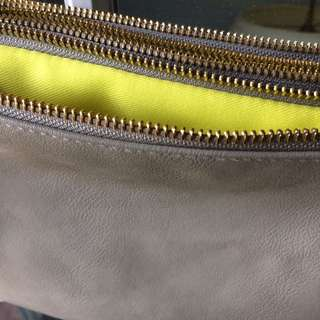 Grey Bag with Lime Interior