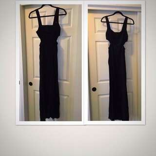 forever 21 cut out maxi dress with side slit
