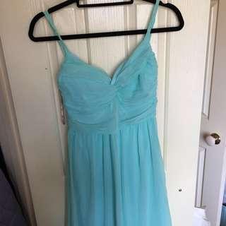 Baby Blue Formal Chiffon Dress- Size 6