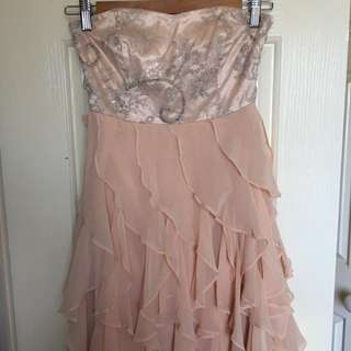 Forever New Peach/nude Prom Dress -size 6
