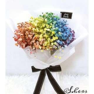 Rainbow Baby's Breath Bouquet @ S.HERS