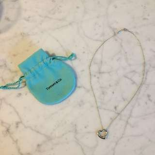 Authentic Tiffany & Co Open Heart Pendant necklace