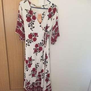Reverse Wrap Dress Size L