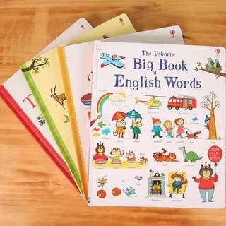The Usborne Big Book Of English Word(四本不拆賣)