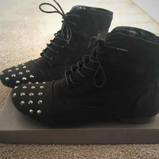 Size 8 Black Studded Boots