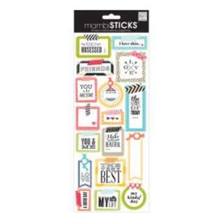 (NEW) Me & My Big Ideas Sayings Stickers Washi Tape Shapes