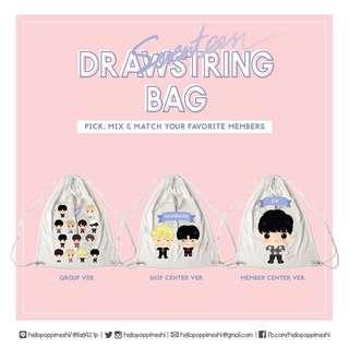 SEVENTEEN Al1 Diamond Edge Drawstring Bag