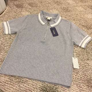 Ribbed Polo Shirt