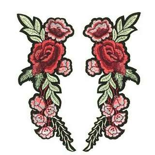 Rose Iron On Patch Set