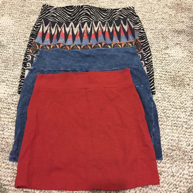 $10 for 4 mini skirts