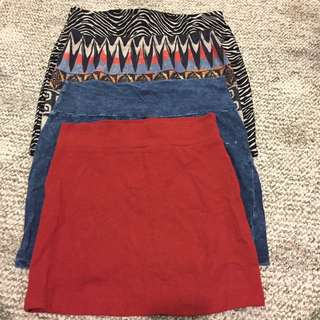 $10 for 4 mini skirts