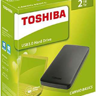 Toshiba 2TB USB 3.0 Hard Drive