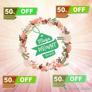SALE 50 % (28 AUG - 02 SEPT 17)!!! Check Barang dg Tag #tenggelamkan# Harga Tertera Belum Diskon