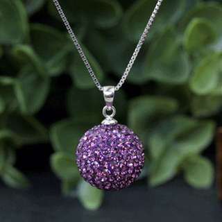 Silvers Crystal Pendant Necklace for Women.