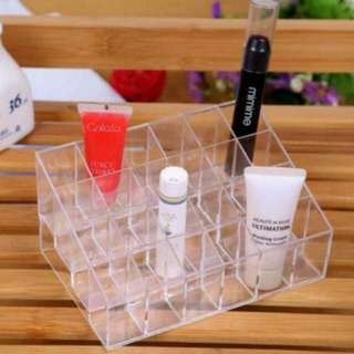 Ready Stock Cosmetic Organizer 24 Hole Lipstick Clear Stand