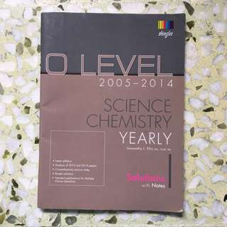 Olevel 2005-2014 science chemistry yearly
