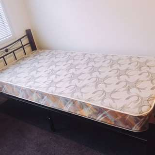 Almost brand new single bed and mattress