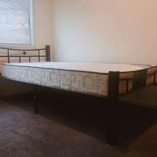 Almost brand new bed and mattress