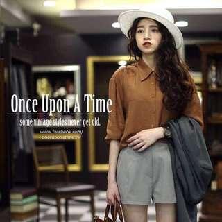 Once Upon A Time 茂木太太 從前從前 硬挺版型西裝材質短褲